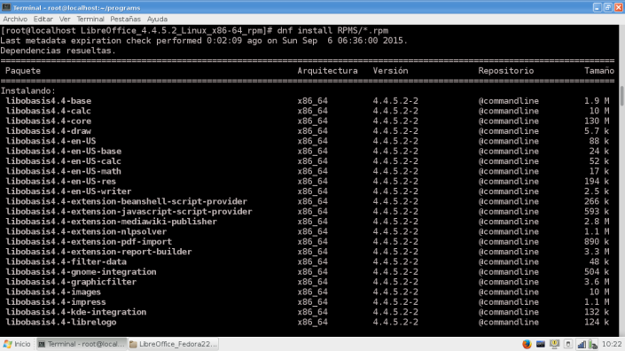 Install LibreOffice445_Fedora22
